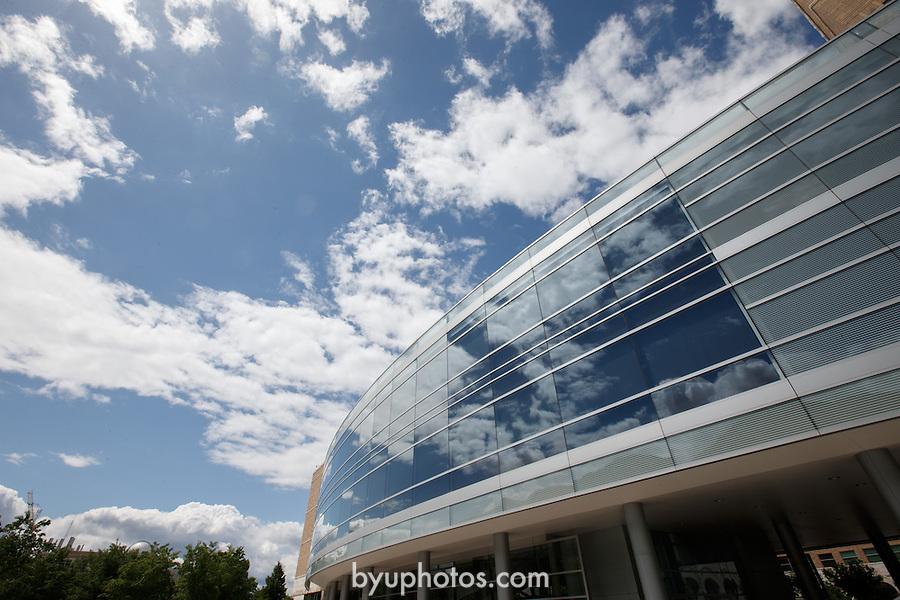 1305-53 006<br /> <br /> 1305-53 GCS GCI JFSB<br /> <br /> Brigham Young University - Joseph F. Smith Building, JFSB, Glass, Clouds<br /> <br /> May 29, 2013<br /> <br /> Photo by Jaren Wilkey/BYU<br /> <br /> &copy; BYU PHOTO 2013<br /> All Rights Reserved<br /> photo@byu.edu  (801)422-7322