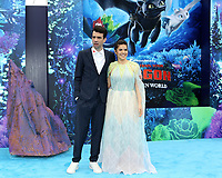 "LOS ANGELES - FEB 9:  Jay Baruchel, America Ferrera at the ""How To Train Your Dragon: The Hidden World""  Premiere at the Village Theater on February 9, 2019 in Westwood, CA"