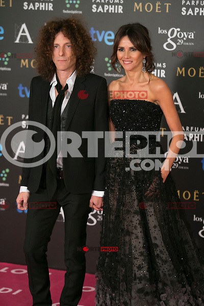 Goya Toledo attend the 2015 Goya Awards at Auditorium Hotel, Madrid,  Spain. February 07, 2015.(ALTERPHOTOS/)Carlos Dafonte) /NORTEphoto.com