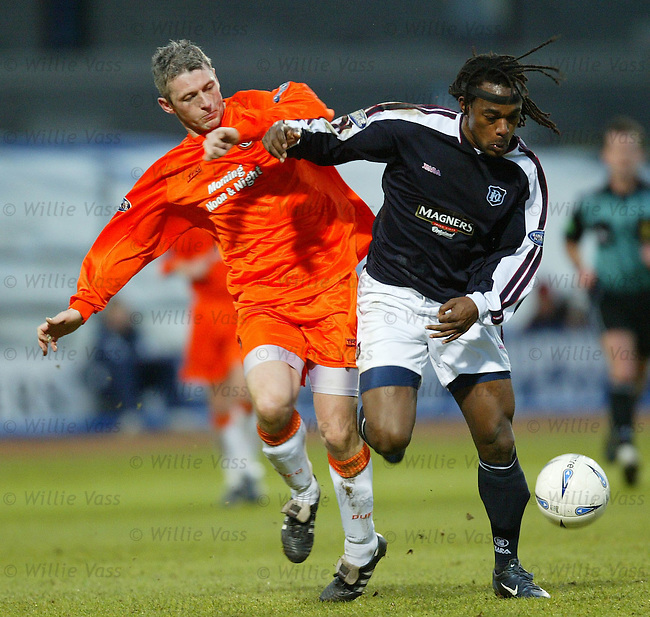 Andy McLaren, Dundee Utd.Brent Sancho, Dundee...pic willie vass