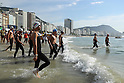 Yasunari Hirai (JPN), <br /> AUGUST 16, 2016 - Swimming : <br /> Men's 10km Marathon Swimming <br /> at Fort Copacabana <br /> during the Rio 2016 Olympic Games in Rio de Janeiro, Brazil. <br /> (Photo by Yohei Osada/AFLO SPORT)
