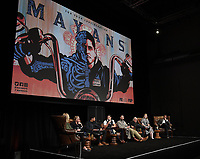"""HOLLYWOOD - MAY 29: Moderator Lynette Rice, Co-Creator/Executive Producer/Writer Kurt Sutter, Co-Creator/Executive Producer/Writer/Director Elgin James, and cast members JD Pardo, Clayton Cardenas, Edward James Olmos, Sarah Bolger, and Danny Pino attend the FYC event for FX's """"Mayans M.C."""" at Neuehouse Hollywood on May 29, 2019 in Hollywood, California. (Photo by Frank Micelotta/FX/PictureGroup)"""