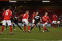 Lucas Akins of Stevenage scores their first goal. Crewe Alexandra v Stevenage - npower League 1 - The Alexandra Stadium, Gresty Road, Crewe - 5th January, 2013. © Kevin Coleman 2013.