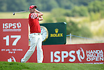 Wale's Liam BOND in action during todays round<br /> <br /> Golf - Day 2 - ISPS Handa Wales Open 2013 - Twenty Ten Course- Friday 30th August 2013 - Celtic Manor Resort  - Newport<br /> <br /> © www.sportingwales.com- PLEASE CREDIT IAN COOK