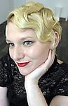 (Boston Ma 050313) Brittany Sybertz, models her Gatsby hair style, Friday at the Salon Capri in Boston, done by stylists Shaun O'Connor and Graziella Lembo. (Jim Michaud  Photo) Adv