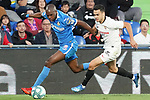 Getafe CF's Allan Nyom (l) and Sevilla FC's Sergio Reguilon during La Liga match. February 23,2020. (ALTERPHOTOS/Acero)