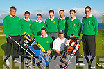 &nbsp;GOLFERS: The Tralee Golf Team who played in the Munster Senior Cup on Saturday at Tralee Golf Club. Front l-r: Mike Barrett (Captain) and David Power (Coach). Team: Ronan Walsh, Eoin O&rsquo;Donnell, Blaine Long, David Hennebery, Gerard O&rsquo;Sullivan, Jamie Field and Fergal O&rsquo;Sullivan.<br />