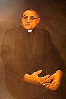 Portrait of Archbishop Oscar Romero Chapel on display in the chapel next to the Centro Monsegnor Romero at the Universidad Centroamericana or UCA in San Salvador, El Salvador