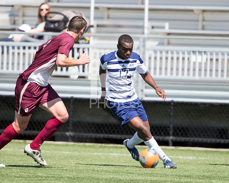 The College of Charleston Cougars played the  Georgia Southern Eagles in The Manchester Cup on April 5, 2014.  The Cougars won 2-0.  Hugo Coicaud (17, Georgia), Connor Coons (17)