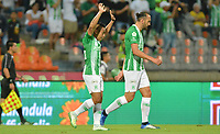 MEDELLÍN - COLOMBIA ,16-05-2019:Vladimir Hernandez  jugador del Atlético Nacional celebra después de anotar un gol al Deportes Tolima  durante partido por los cuadrangulares finales del  grupo B de la Liga Águila I 2019 jugado en el estadio Atanasio Girardot de la ciudad de Medellín. /Vladimir Hernandez player of Atletico Nacional celebrates after scoring a goal agaisnt of Deportes Tolima during  the second  match for the quarter finals B of the Liga Aguila I 2019 played at the Atanasio Girardot  Stadium in Medellin  city. Photo: VizzorImage / León Monsalve / Contribuidor.