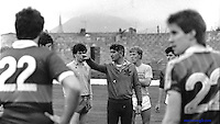 Mick O' Dwyer training the team in 1982.<br /> Pic: Don MacMonagle