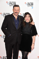"Julian Barratt and Essie Davis<br /> at the London Film Festival 2016 premiere of ""Mindhorn"" at the Odeon Leicester Square, London.<br /> <br /> <br /> ©Ash Knotek  D3167  09/10/2016"