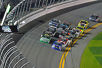 18-19 February, 2016, Daytona Beach, Florida USA<br /> Ryan Truex takes the white flag.<br /> ©2016, F. Peirce Williams