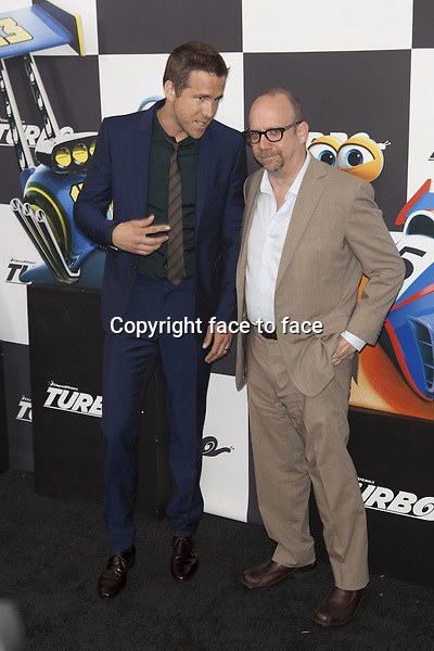 NEW YORK, NY - JULY 9: Ryan Reynolds and Paul Giamatti attend the 'Turbo' premiere at AMC Loews Lincoln Square on July 9, 2013 in New York City.<br /> Credit: MediaPunch/face to face<br /> - Germany, Austria, Switzerland, Eastern Europe, Australia, UK, USA, Taiwan, Singapore, China, Malaysia, Thailand, Sweden, Estonia, Latvia and Lithuania rights only -