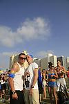 Israel, Tel Aviv, a party at Charles Clore Park
