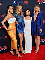 """LOS ANGELES, USA. August 14, 2019: Corinne Foxx, Sistine Stallone, Brianne Tju & Sophie Nelisse at the premiere of """"47 Meters Down: Uncaged"""" at the Regency Village Theatre.<br /> Picture: Paul Smith/Featureflash"""