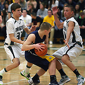 Clarkston at Lake Orion, Boys Varsity Basketball, 1/4/13