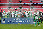LONDON, ENGLAND - MARCH 29: North Ferriby United ceelbrate winning the FA Trophy after the FA Carlsberg Trophy Final 2015 at Wembley Stadium on March 29, 2015 in London, England. (Photo by David Horn/EAP)