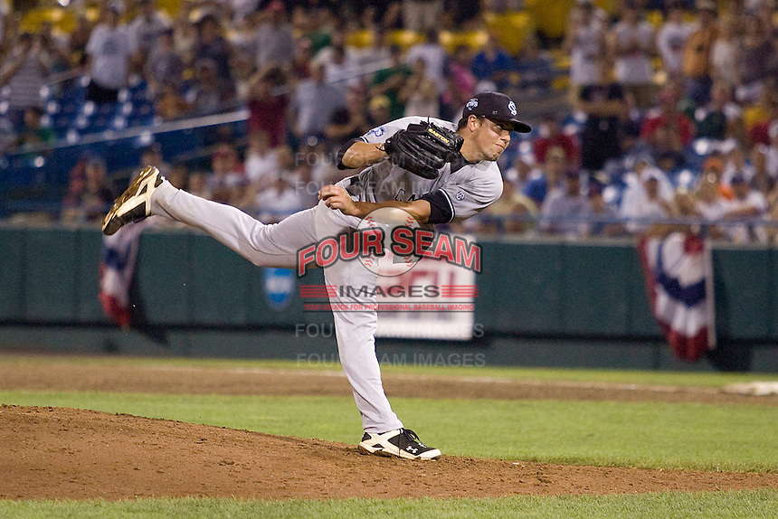 South Carolina's starting pitcher Michael Roth in Game 12 of the NCAA Division One Men's College World Series on June 25th, 2010 at Johnny Rosenblatt Stadium in Omaha, Nebraska.  (Photo by Andrew Woolley / Four Seam Images)