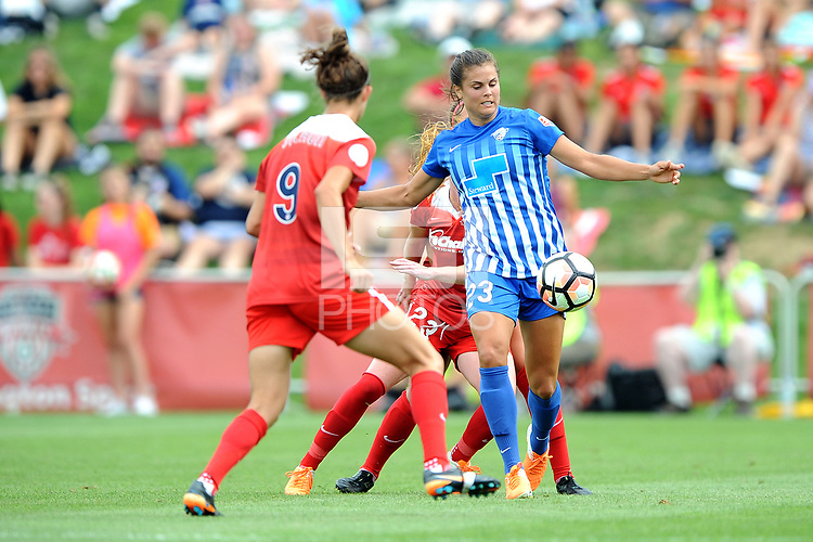 Boyds, MD - Saturday August 12, 2017: Katie Stengel during a regular season National Women's Soccer League (NWSL) match between the Washington Spirit and the Boston Breakers at Maureen Hendricks Field, Maryland SoccerPlex.