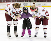 Danielle Welch (BC - 17), Kelli Stack (BC - 16) - The Boston College Eagles defeated the visiting Northeastern University Huskies 2-1 on Sunday, January 30, 2011, at Conte Forum in Chestnut Hill, Massachusetts.