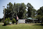 July 19, 2008. Georgia..Roadside tributes to American troops serving in the wars in the Middle East.