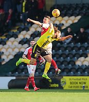 Fleetwood Town's Jason Holt vies for possession with Burton Albion's Marcus Harness<br /> <br /> Photographer Chris Vaughan/CameraSport<br /> <br /> The EFL Sky Bet League One - Saturday 23rd February 2019 - Burton Albion v Fleetwood Town - Pirelli Stadium - Burton upon Trent<br /> <br /> World Copyright © 2019 CameraSport. All rights reserved. 43 Linden Ave. Countesthorpe. Leicester. England. LE8 5PG - Tel: +44 (0) 116 277 4147 - admin@camerasport.com - www.camerasport.com