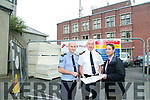 €1.2m investment into Tralee Garda Station. Works have begun. Pictured Garda Sgt. Tim O'Keefe, Superintendent Jim O'Connor and Detective Sergeant Ernie Henderson view the plans on Tuesday