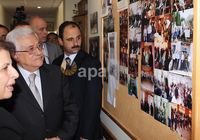 President Mahmoud Abbas visits the Elderly Club in Bethlehem on July 20, 2009. Photo by Thaer Ganaim