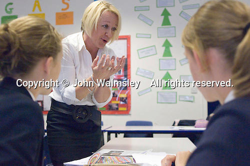 Mature woman on Initial Teacher Training Graduate Teaching Programme (GTP) in English Dept.