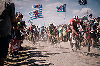 Andr&eacute; Greipel (DEU/Lotto-Soudal) on pav&eacute; sector #4<br /> <br /> Stage 9: Arras Citadelle &gt; Roubaix (154km)<br /> <br /> 105th Tour de France 2018<br /> &copy;kramon