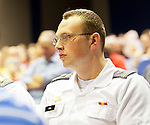 "West Point cadets are in the audience for panel on ""Change in the White House? Comparing the George W. Bush and Barack Obama Presidencies"" on Thursday, April 19, 2012, at Hofstra University, Hempstead, New York, USA. Hofstra's event was part of ""Debate 2012: Pride, Politics and Policy"" which leads up to the Presidential Debate Hofstra is hosting on October 15, 2012."