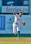 18 August 2012: Vermont Lake Monsters infielder Christopher Bostick in action against the Brooklyn Cyclones at Centennial Field in Burlington, Vermont. The Lake Monsters defeated the Cyclones 4-1 in NY Penn League action. Mandatory Credit: Ed Wolfstein Photo