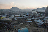 The Chamne Babrak refugee camp in Kabul 5-1-14