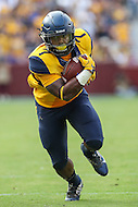 Landover, MD - September 23, 2016: West Virginia Mountaineers running back Rushel Shell (7) runs the ball during game between BYU and WVA at  FedEx Field in Landover, MD.  (Photo by Elliott Brown/Media Images International)
