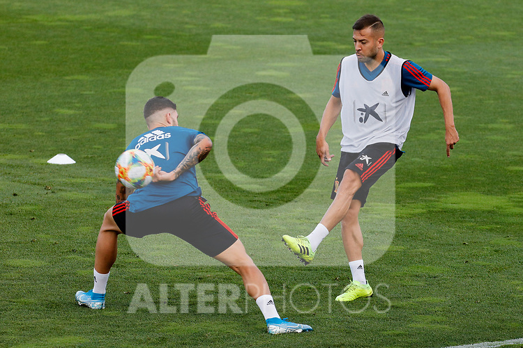 Jordi Alba during the Trainee Session at Ciudad del Futbol in Las Rozas, Spain. September 02, 2019. (ALTERPHOTOS/A. Perez Meca)