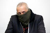 Sergio De Caprio, aka Captain Ultimo, famous for the capture in 1993 of Toto' Riina,  the most  famous Mafia boss in recent years. Captain Ultimo has been living under police protection for 26 years, as there were evidences that Mafia clan was planning to kill him. His face is always covered<br /> Rome February 6th 2019. Press conference to present the first syndicate of Carabinieri, born in Italy, just after the 2018 sentence that allows the constitution of Army Trade Unions.<br /> Foto Samantha Zucchi Insidefoto