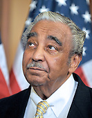 Washington, DC - July 14, 2009 -- United States Representative Charles B. Rangel (Democrat of New York), Chairman of the U.S. House Ways and Means Committee, looks on as he and fellow Democratic members of the U.S. House of Representatives unveil the America's Affordable Health Choice Act of 2009 during a press conference in the Rayburn Room of the U.S. Capitol on Tuesday, July 14, 2009..Credit: Ron Sachs / CNP