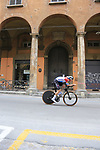 Luxembourg Champion Bob Jungels (LUX) Deceuninck-Quick Step heads out for a practice run before Stage 1 of the 2019 Giro d'Italia, an individual time trial running 8km from Bologna to the Sanctuary of San Luca, Bologna, Italy. 11th May 2019.<br /> Picture: Eoin Clarke | Cyclefile<br /> <br /> All photos usage must carry mandatory copyright credit (© Cyclefile | Eoin Clarke)