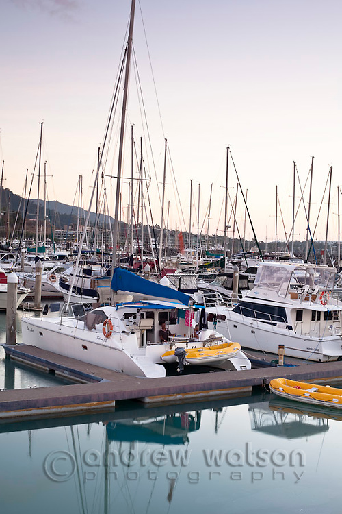 Yachts in Abel Point Marina.  Airlie Beach, Whitsundays, Queensland, Australia