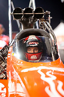 Sep 27, 2019; Madison, IL, USA; NHRA top fuel driver Doug Kalitta during qualifying for the Midwest Nationals at World Wide Technology Raceway. Mandatory Credit: Mark J. Rebilas-USA TODAY Sports
