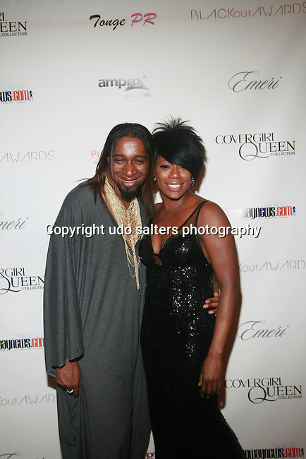 Designer Marco Hall and Karen Dupiche attend COVERGIRL Queen Collection Presents The 2nd Annual Blackout Awards Held at Newark Hilton Gateway, NJ 6/12/11
