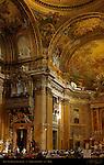 Apse Left Transept Detail Tamburini Organ Trompe-l'oeil Frescoes Giovanni Battista Gaulli Antonio Raggi Chiesa del Gesu Rome