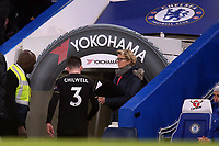 Ben Chilwell of Leicester city leaves there pitch after bring sent off during Chelsea vs Leicester City, Premier League Football at Stamford Bridge on 13th January 2018