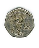 MAURITIUS, a 1997 ten rupee coin
