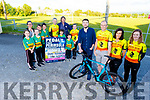 Launching the Pedal the Pennisula Charity Cycle fundraiser for Keel GAA, Slieve Mish and Fibough NS in Keel on Monday evening.<br /> Front l to r: Brendan Griffin (Minister for State, Tourism and Sport), Ger and Kathleen Ladden, Marie Moriarty, Sarah O'Connor, Erin Evans, Eileen Lovett, Dylan and Oisin O'Connor, Seamus O'Mahoney, John Ladden, Conor and Darragh Flaherty and Ava Ladden.