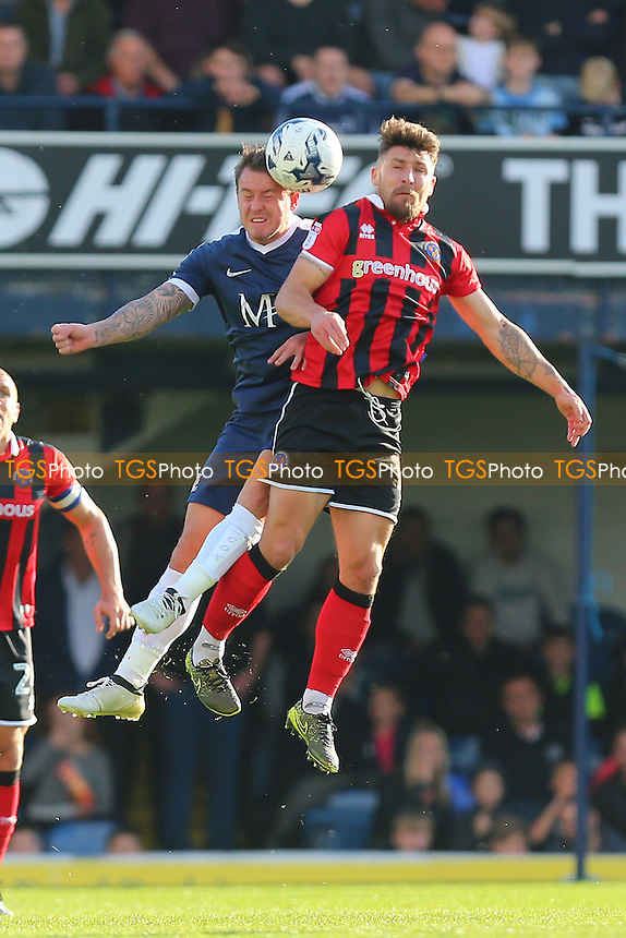 Simon Cox of Southend United and Gary Deegan of Shrewsbury Town during Southend United vs Shrewsbury Town, Sky Bet EFL League 1 Football at Roots Hall on 29th October 2016
