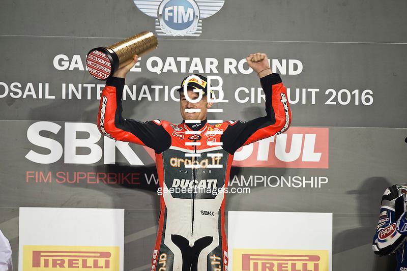 2016 FIM Superbike World Championship, Round 13, Losail, Qatar, Leon Camier, Chaz Davies, Ducati