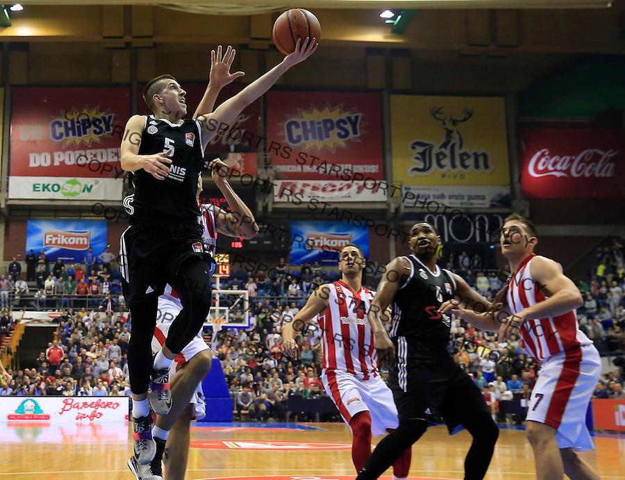 Kosarka ABA League season 2015-2016<br /> Crvena Zvezda v Partizan<br /> Petar Aranitovic (L)<br /> Beograd, 03.11.2015.<br /> foto: Srdjan Stevanovic/Starsportphoto&copy;