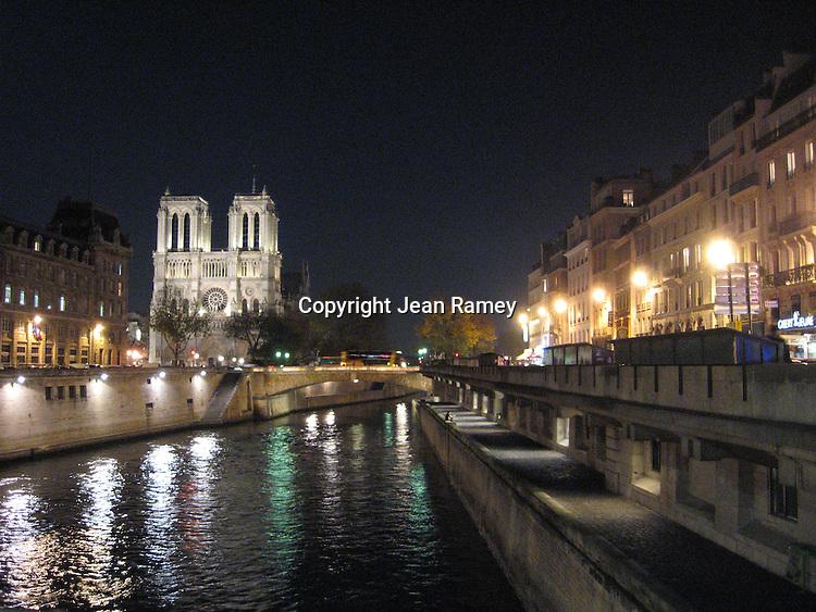 Notre Dame & Seine River at Night